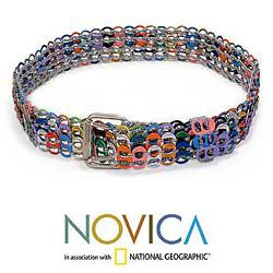 Women's Aluminum Pop Tab 'Multicolor Armor Chain Mail' Belt (Brazil)