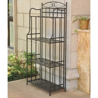 International Caravan Santa Fe 4-tier Indoor/ Outdoor Bakers Rack|https://ak1.ostkcdn.com/images/products/6002256/P13688860.jpg?impolicy=medium