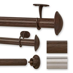 Bold 144 to 240-inch Adjustable Curtain Rod Set for Patio Doors ...