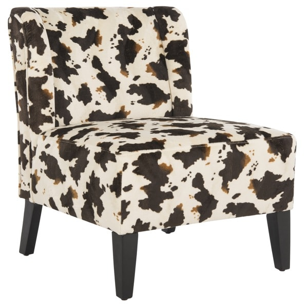 Safavieh Cow Hide Print Lounge Chair   Free Shipping Today   Overstock.com    13688872