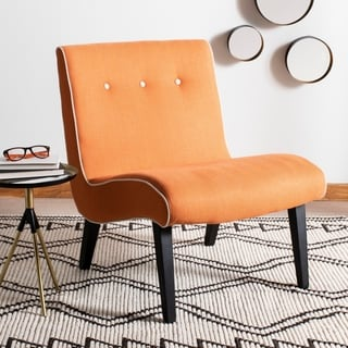Safavieh Mid-Century Noho Orange Lounge Chair