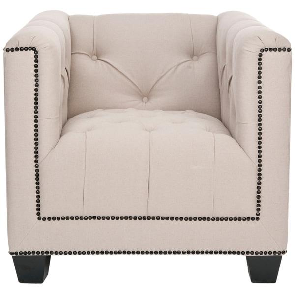 """SAFAVIEH Majesty Beige Club Chair - 32.3""""x33.9""""x28.9"""". Opens flyout."""