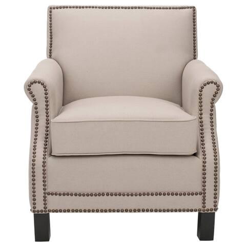 "Safavieh Mansfield Beige Club Chair - 28.3"" x 33.1"" x 31.7"""