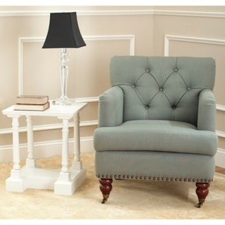 Safavieh Manchester Green Grey Tufted Club Chair