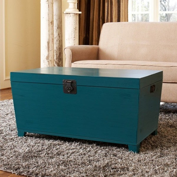 Angelo Home Turquoise Pyramid Trunk Coffee Table Free Shipping Today 13688903