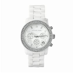 Michael Kors Women's MK5188 Ceramic Watch - WHITE