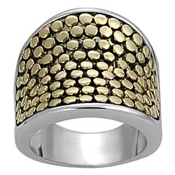 Silvertone and Goldtone Tapered Ring