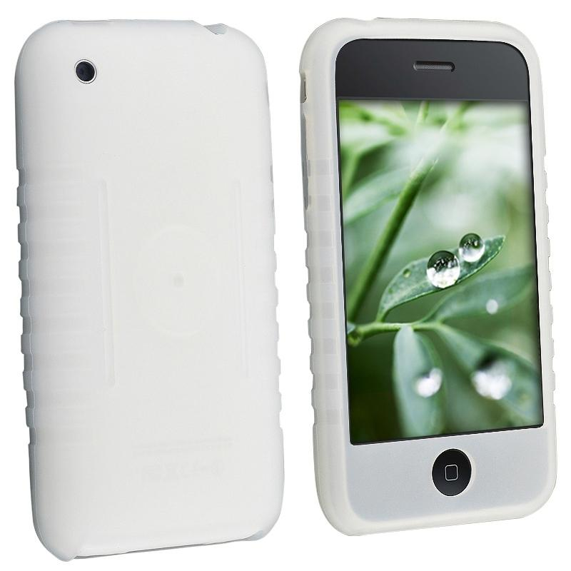Clear White Silicone Case for Apple iPhone 3G/ 3GS