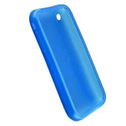 INSTEN Clear Sky Blue TPU Rubber Phone Case Cover for Apple iPhone 3G/ 3GS - Thumbnail 1