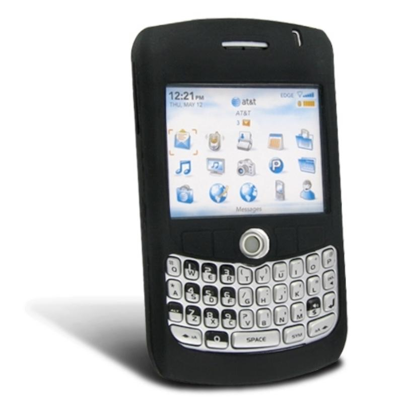 Black Silicone Case for BlackBerry Curve 8300