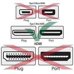 INSTEN 3-foot Black HDMI to Mini HDMI M/ M Cable - Thumbnail 2