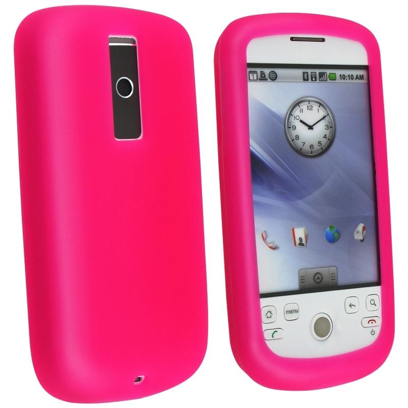 Hot Pink Silicone Case for HTC Magic