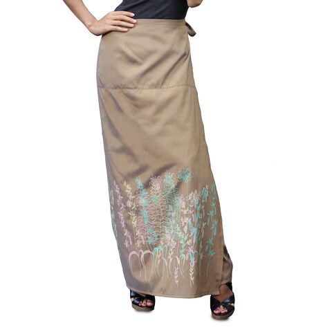 Handmade Silk and Cotton 'Sunny Rice Field' Sarong (Thailand)