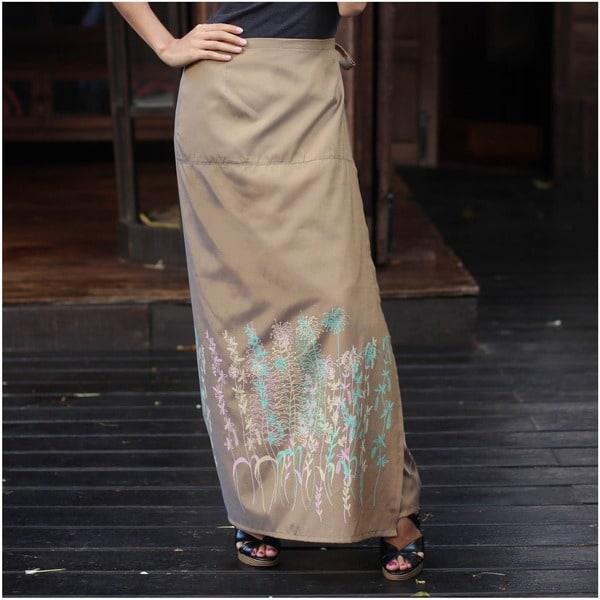 Handmade Silk and Cotton 'Sunny Rice Field' Sarong (Thailand)