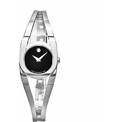 Movado Women's Amoroso Stainless Steel Black Dial Watch