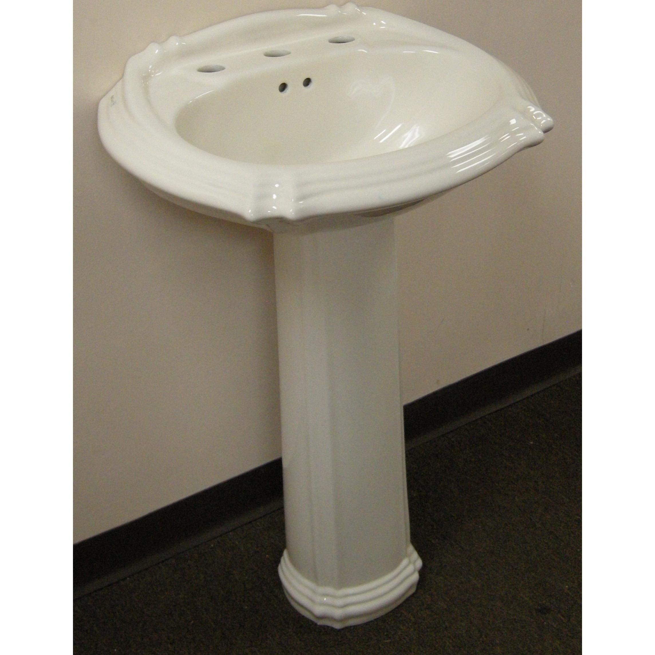 Fine Fixtures Ceramic 22-inch Biscuit Pedestal Sink (Cera...
