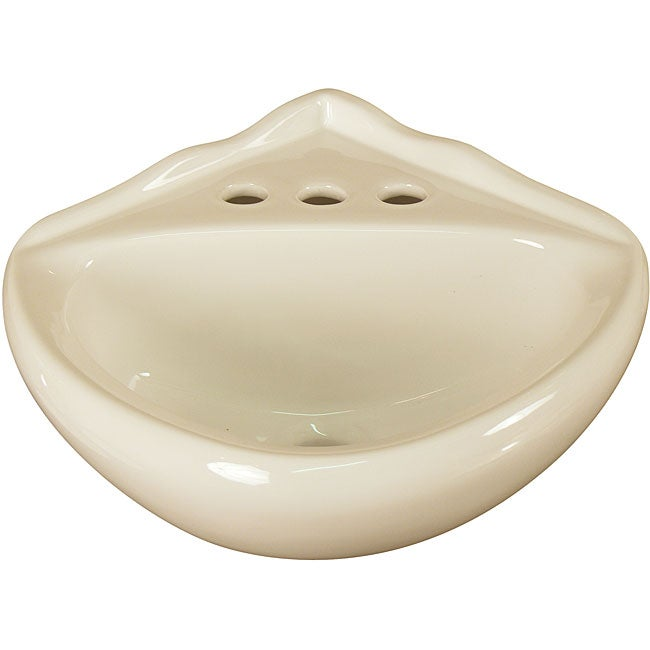 Fine Fixtures Ceramic Biscuit Corner Wallmount Sink