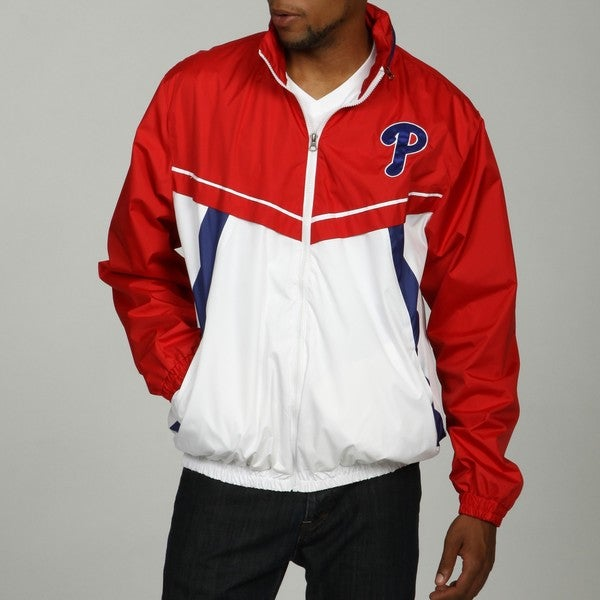 MLB Men's Full Zip Color-block Phillies Jacket