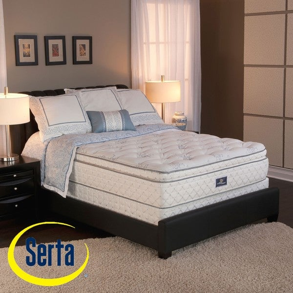Serta Perfect Sleeper Conviction Super Pillow Top King Size Mattress And Box Spring Set Free