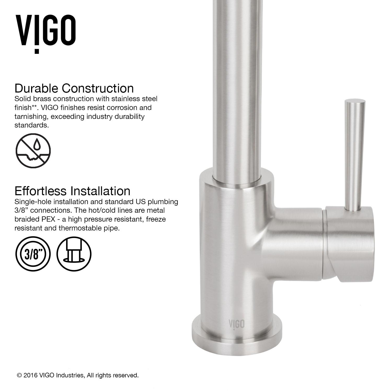 Shop Vigo Avondale Stainless Steel Kitchen Faucet With Soap