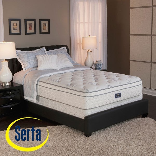 Serta Perfect Sleeper Conviction Euro Top Cal King-size Mattress and Box Spring Set