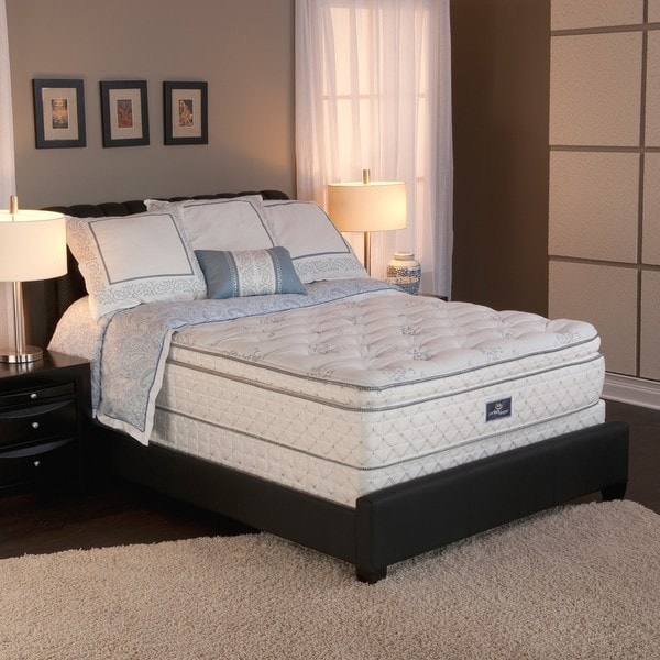 Serta Perfect Sleeper Conviction Super Pillow Top Cal King-size Mattress and Box Spring Set