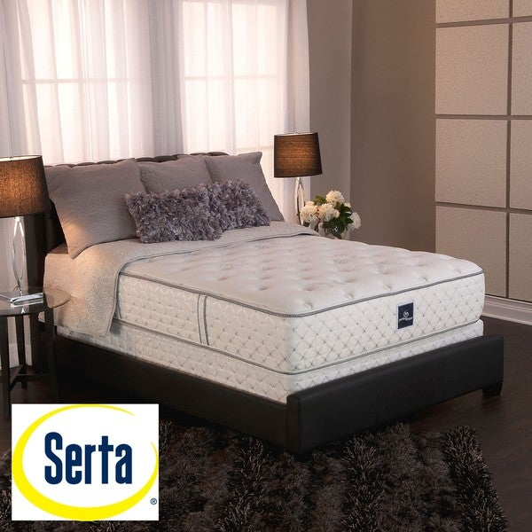 shop serta perfect sleeper ultra modern firm full size mattress and box spring set free. Black Bedroom Furniture Sets. Home Design Ideas