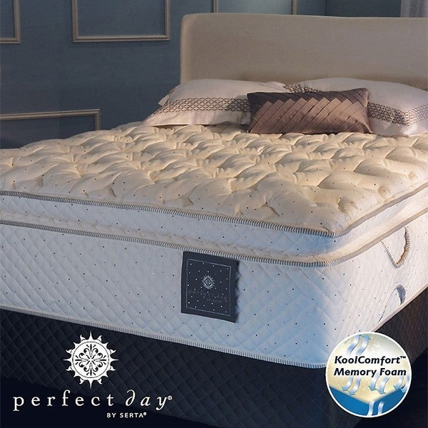 Serta Perfect Day Imperial Suite Euro Top Cal King-size Mattress and Box Spring Set