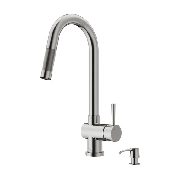 Superior VIGO Gramercy Stainless Steel Pull Down Kitchen Faucet With Soap Dispenser