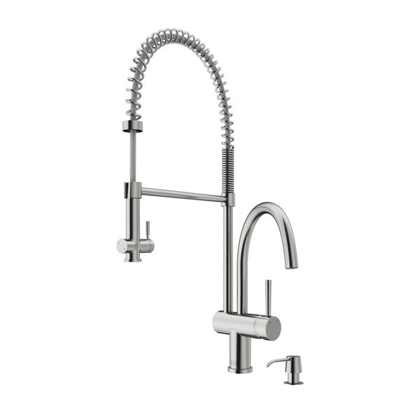 Delicieux VIGO Dresden Stainless Steel Pull Down Spray Kitchen Faucet With Soap  Dispenser