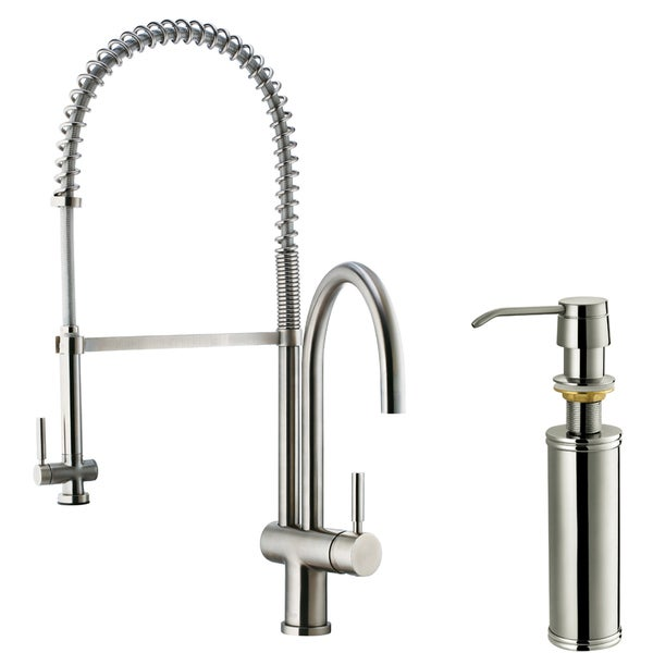 Vigo Stainless Steel  Handle Pull Down Kitchen Faucet
