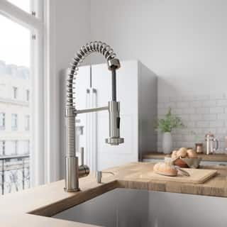 VIGO Edison Stainless Steel Pull-Down Spray Kitchen Faucet with Soap Dispenser|https://ak1.ostkcdn.com/images/products/6006505/P13692212.jpg?impolicy=medium