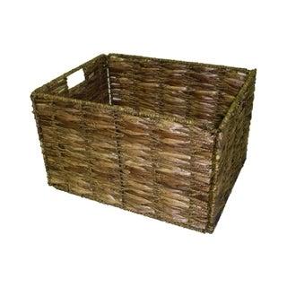 Large Two Tone Walnut Storage Baskets (Set Of 6)