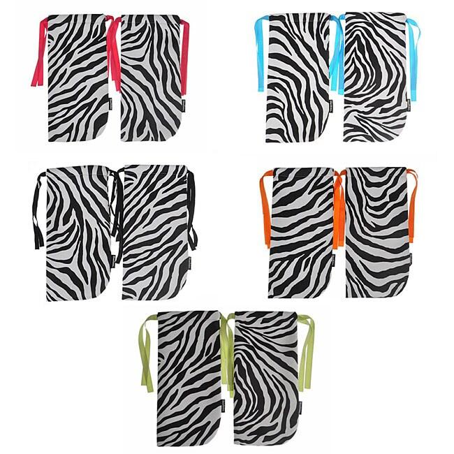 ShoeTotes Zebra Print Laminate Fabric Shoe Bag