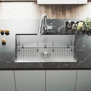 VIGO 32-inch Mercer Stainless Steel Undermount Sink, Grid and Strainer