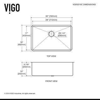 VIGO 30-inch Mercer Stainless Steel Undermount Sink, Grid & Strainer