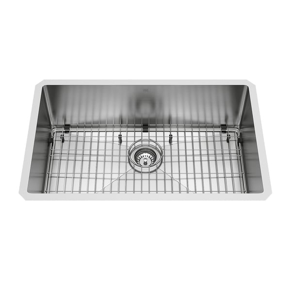 VIGO 30-inch Mercer Stainless Steel Undermount Sink, Grid & Strainer