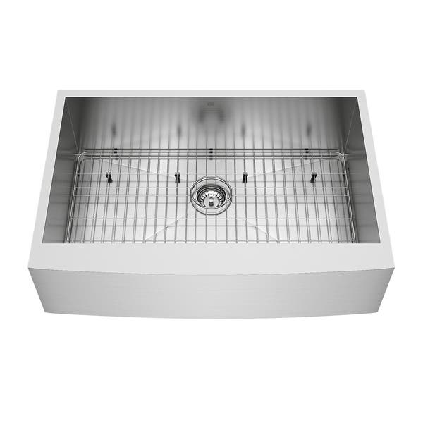 Shop VIGO Camden Stainless Steel 33-inch Kitchen Sink, Grid ...
