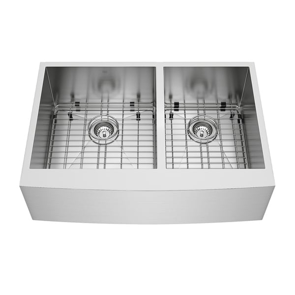 VIGO 33-inch Chisholm Stainless Steel Farmhouse Sink Grids & Strainers