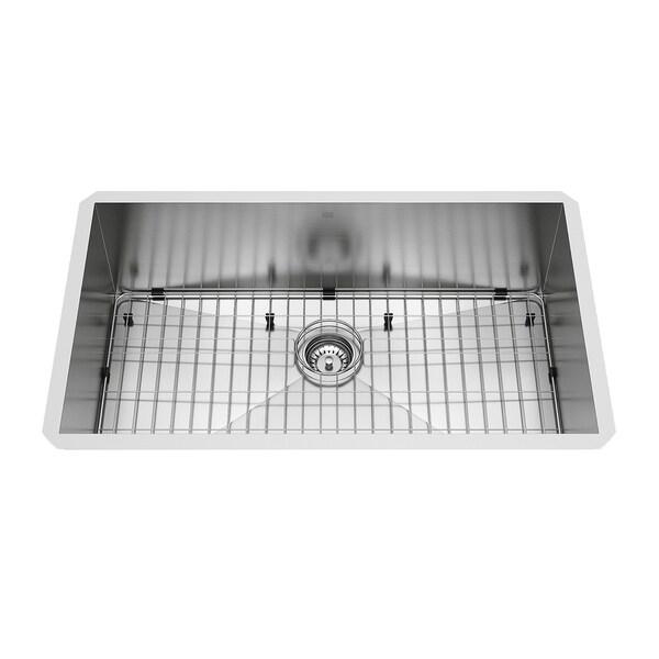 VIGO 32-inch Ludlow Stainless Steel Undermount Sink, Grid & Strainer