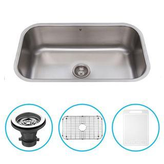 VIGO 30-inch Undermount Stainless Steel Kitchen Sink, Grid and Strainer
