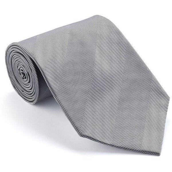 Platinum Ties Men's 'Smooth Silver' Shadow Stripe Tie