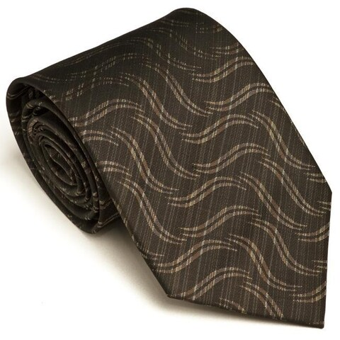 Platinum Ties Men's 'Charcoal Suave' Tie
