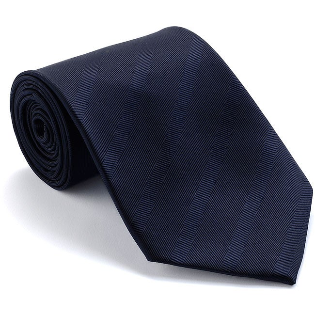 Platinum Ties Men's 'Navy Subtle' Striped Tie