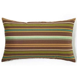 Brown Thin Stripes Outdoor Throw Pillow