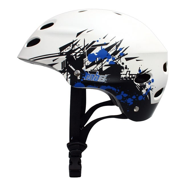 MBS 'Grafstract' White Small/ Medium Helmet