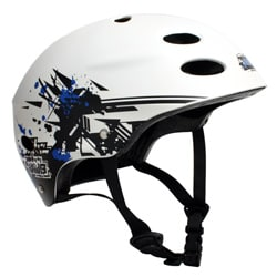 MBS 'Grafstract' White Large/ XLarge Helmet - Thumbnail 2