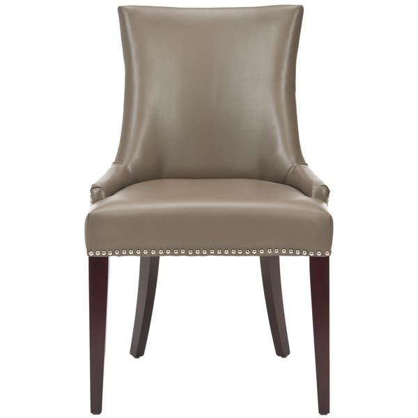 Swell Shop Safavieh Dining Parsons Becca Grey Leather Dining Chair Creativecarmelina Interior Chair Design Creativecarmelinacom