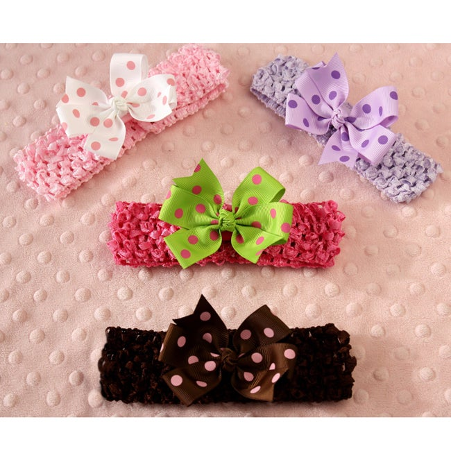 Fun 8-piece Headbands and Bows Set