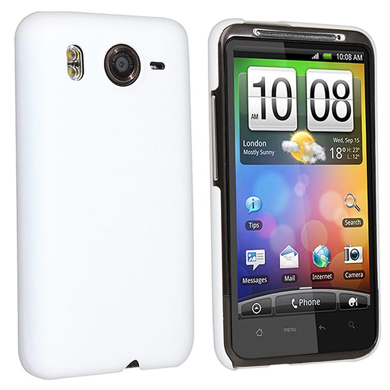 INSTEN Rear Rubber Coated Phone Case Cover for HTC Inspire 4G/ Desire HD
